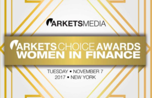 Markets Media's third annual Markets Choice Awards: Women in Finance luncheon took place on Tuesday, November 7, Andrea Tinianow