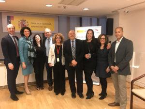 Andrea Tinianow at the Spanish Embassy